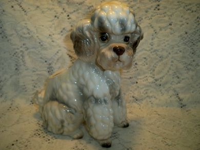 Vintage 1950s French Poodle Planter