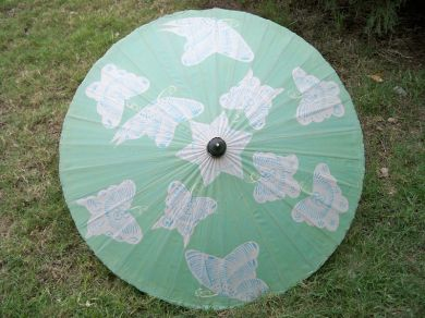 Vintage Japanese Butterfly Umbrella